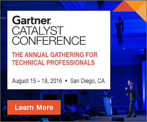 Gartner Catalyst Conference San Diego 2016