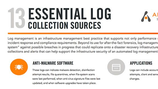13 Essential Log Management Sources: Infographic