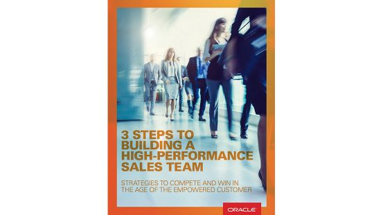 ebook: 3 STEPS TO BUILDING A HIGH-PERFORMANCE SALES TEAM