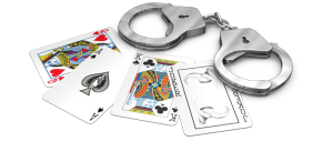 handcuffs 300x127 Big Poker Player Loses High Stakes Android Scam Game