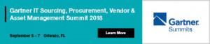 EVTM 855 474784 ITSV2018 Additional Banner Ads 428x90 300x63 Gartner IT Sourcing, Procurement, Vendor and Asset Management Summit 2018, September 5 – 7, in Orlando, FL
