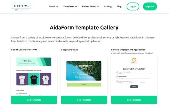 aidaform homepage e1603475663648 Ways to Save Time When Creating Your First Website